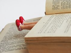 Hey, I found this really awesome Etsy listing at https://www.etsy.com/listing/169871187/toms-shoes-bookmark-legs-in-the-book-red