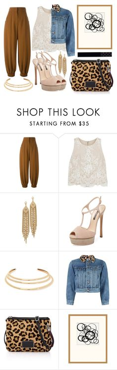 """""""Angelina"""" by goingdigi ❤ liked on Polyvore featuring Fendi, Alice + Olivia, Capwell + Co, Casadei, Kenneth Jay Lane, Marc by Marc Jacobs, Pottery Barn and Gucci"""