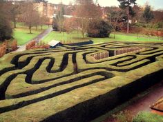 Hampton Court Maze, UK. From 'Three Men in a Boat, to say nothing of the dog.'  When lost, do not follow one named Harris.