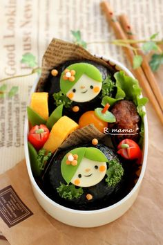 parsley hair girls bento