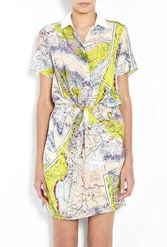 map print dress