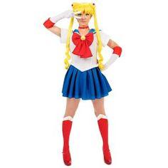 Sailor Moon Adult Costume White/Blue