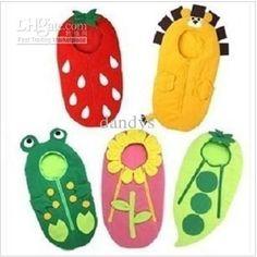 Wholesale Baby sleeping bag banana / sunflower / frog / pea / strawberry shape sleeping bags, ,dandys, Free shipping, $14.78/Piece   DHgate