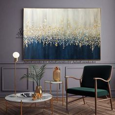 Large Abstract Oil Painting Original art,Gold Leaf Silver Leaf fall painting,Wall Decor Bedroom Above bed,Textured Painting by Julia Kotenko : Große abstraktes Ölgemälde Blattgold Silber Blatt Wand Dekor Autumn Painting, Oil Painting Abstract, Texture Painting, Painting Art, Blue Painting, Large Painting, Large Abstract Wall Art, Abstract Canvas, Art Paintings