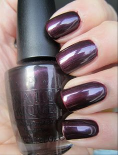 Nails dark opi shades Ideas for 2019 Fancy Nails, Cute Nails, Pretty Nails, Fabulous Nails, Gorgeous Nails, Opi Nail Colors, Manicure Y Pedicure, Mani Pedi, Pedicures