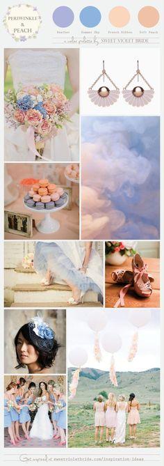 Periwinkle Wedding Colors   Wedding Color Palette: Peach & Periwinkle: