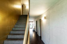 gigon  guyer . Housing Development Zellweger-Areal . Uster (9) Gigon Guyer, Park Homes, Architecture Details, The Neighbourhood, Stairs, House, Home Decor, Architects, Interiors