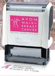 Trodat� Large Stamp for a Cure Breast Cancer Awareness Self Inking w/ Ad Window