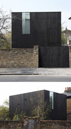 House Exterior Colors – 14 Modern Black Houses From Around The World / Black timber rainscreens conceal where each level of the house sits on the building. Black Architecture, Modern Architecture House, Residential Architecture, Modern House Design, Architecture Design, Victorian Architecture, Black House Exterior, Exterior House Colors, Modern Exterior