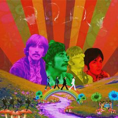 Wallpaper Iphone - beatles poster - Wallpapers World Les Beatles, Beatles Art, Beatles Poster, Psy Art, Hippie Art, Retro Aesthetic, Psychedelic Art, Photomontage, Digital Illustration