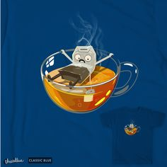 Have some tea on Threadless Special Characters, Fictional Characters, Tea Design, Lower Case Letters, Lowercase A, New Art, Lettering, Cute, Kawaii