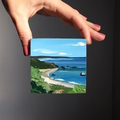 reat Rock from the top Small Canvas Paintings, Small Canvas Art, Mini Canvas Art, Small Paintings, Art And Illustration, Landscape Art, Landscape Paintings, Mini Toile, Arte Sketchbook