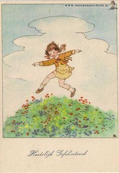 Sijtje Aafjes - vintage illustration art