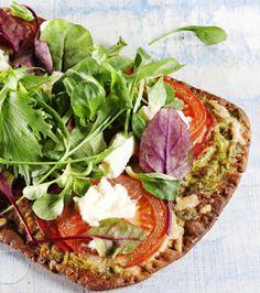 Bread pizzas / Helpot ja nopeat rieskapizzat, resepti – Ruoka.fi