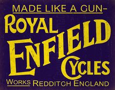 Royal Enfield Cycles metal tin sign poster wall by PlaquesKingdom