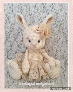 Een schattig konijn gemaakt,  gratis patroon van Zhaya Design  https://www.zhaya.de/animals.html
