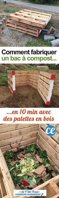 Quick and easy classy looking compost project Faire Son Compost, Making A Compost Bin, Garden Organization, Pallets Garden, Pallet Gardening, Permaculture, Fresh Flowers, Organic Gardening, Pallets
