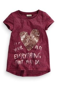 Buy Put Your Heart Slogan Top (3-16yrs) from the Next UK online shop