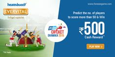 #Predict the no. of players to score more than 50 in the final of the 20-20 #Cricket Dhamaka & win Rs. 500 cash.