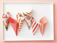 paper cones, so cute!