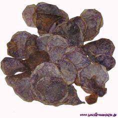 blaue Gruselchips - Chipsrezept unsere blauen Grusel-Chips werden aus blauen Kartoffeln gemacht vegetarisch vegan laktosefrei glutenfrei
