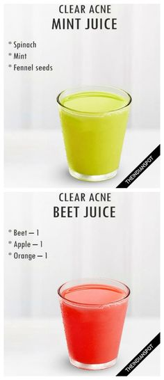Juices to clear your acne