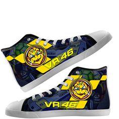 Aangepaste Hi Tops schoenen Valentino Rossi The Doctor 46 VR46 Unisex volwassen…