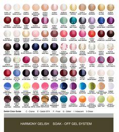 Harmony Gelish Gel Nail Polish You Choose 6 Colors Out of 96 | eBay