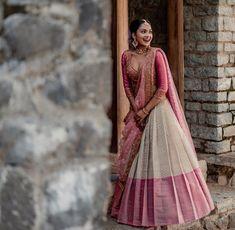 Lehenga Saree Design, Half Saree Lehenga, Indian Lehenga, Indian Gowns, Lehenga Designs, Saree Blouse Designs, Brocade Lehenga, Banarasi Lehenga, Lehenga Suit