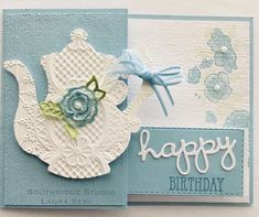 tea together lace embossing folder Tea Party Crafts, Paper Tea Cups, Coffee Cards, Fancy Fold Cards, Stamping Up, Kids Cards, Scrapbook Cards, Homemade Cards, Stampin Up Cards