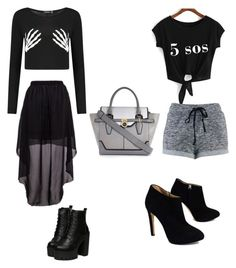 """""""Halloween going out fashion"""" by emmalouiseannym on Polyvore featuring Giuseppe Zanotti and River Island"""