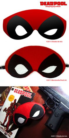 Deadpool Sleeping Eye Mask by ~chloebs on deviantART