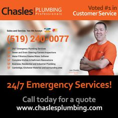 24/7 Emergency Plumber, A/C,Drain Cleaning & Bathroom Renovation Kitchener / Waterloo Kitchener Area image 1