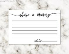 Printable Share A Memory Card, Keepsake 4x6 inches 300dpi perfect way to preserve memories! Printable PDF file download Funeral Memory Card Instant Download • No printed materials will be sent. ∙∙∙∙∙∙∙∙∙∙∙∙∙∙∙∙∙∙∙∙∙∙∙∙∙∙∙∙∙∙∙∙∙∙∙∙∙∙∙∙∙YOU WILL RECEIVE∙∙∙∙∙∙∙∙∙∙∙∙∙∙∙∙∙∙∙∙∙∙∙∙∙∙∙∙∙∙∙∙∙∙∙∙∙∙∙∙∙∙∙∙∙∙∙∙∙∙  • printable 8,5 x 11 inch PDF; 2 cards (4 x 6 inch) on a page • printable 4x6 PDF 300 dpi  print on craft for a rustic look This files for your personal use only. Files cannot be resold or used…