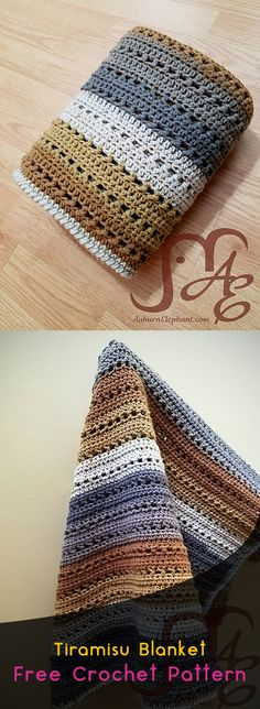 Tiramisu Blanket Free Crochet Pattern #crochet #crafts #homedecor #blanket #style #idea