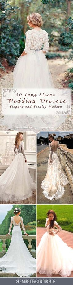 30 Chic Long Sleeve Wedding Dresses ❤ We were inspired charming wedding dresses with long sleeves. Long-sleeve gowns are breathtaking, elegant and totally modern.See more: http://www.weddingforward.com/long-sleeve-wedding-dresses/ #wedding #dresses #long #sleeve
