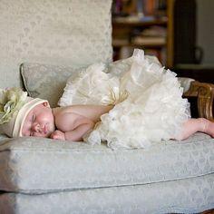 Gentle Cream Newborn Pettiskirt !