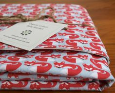 Organic+Baby+Blanket+in+FOXY+TOO+by+organicquiltcompany+on+Etsy,+$49.50
