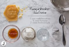 DIY with JENNY: DIY kolmen aineksen huulirasva Home Spa, Spa Treatments, Naturally Beautiful, Natural Cosmetics, Homemade Beauty, Merry And Bright, Better Life, Diy Gifts, Essential Oils