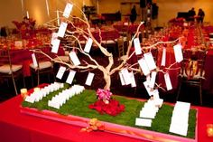 Escort Cards - they do not all have to hang on the tree.