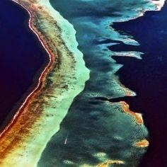 Bora Bora Reef Aerial (by David Schweitzer)