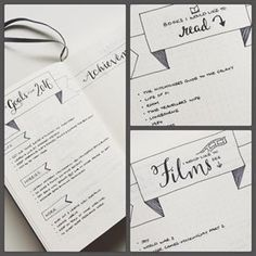 Turn your reading and movie wishlists into actionable to-dos. | 23 Genius Ways You Can Customize Your Bullet Journal