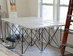 A Heavy Duty Portable Workbench Or Table Base, The Centipede® Portable  Sawhorse Workbench Sets