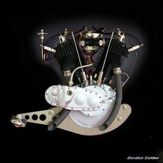 N0 21: VINTAGE HARLEY DAVIDSON 1920 T SERIES MOTORCYCLE ENGINE by Gordon Calder, via Flickr