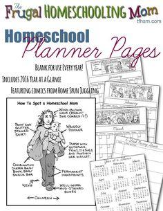 free printable homeschool calendar planner 2016 home spun juggling Free Lesson Planner, Free Planner, Moms On Call, Learning Time, Preschool Learning, Home Schooling, School Organization, Planer, Free Printables