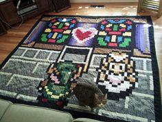 Legend of Zelda Quilt :wedding present for two gamers