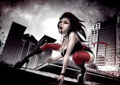 Cartoon Vampire Girl wallpaper from Vampire wallpapers