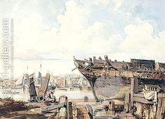 George Chambers:A Shipyard On The Thames 2