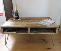 Rustic Coffee Table Hairpin legs TV Stand Coffee table