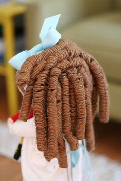 Eu Amo Artesanato: Como fazer cabelo cacheado para boneca